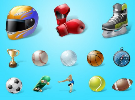 Icone de sport foot, f1, basket-ball, golf, boxe, tennis, skate, rugby