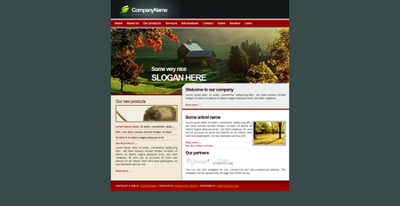Template, kit graphique nature campagne