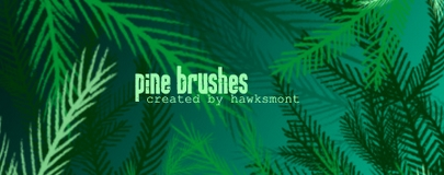Brush Photoshop branche de sapin