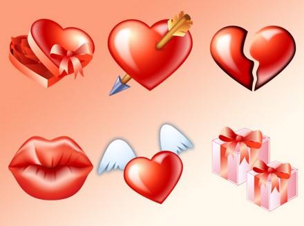 Igraphisme icones gratuites de coeurs pour la st valentin - Images coeur gratuites ...